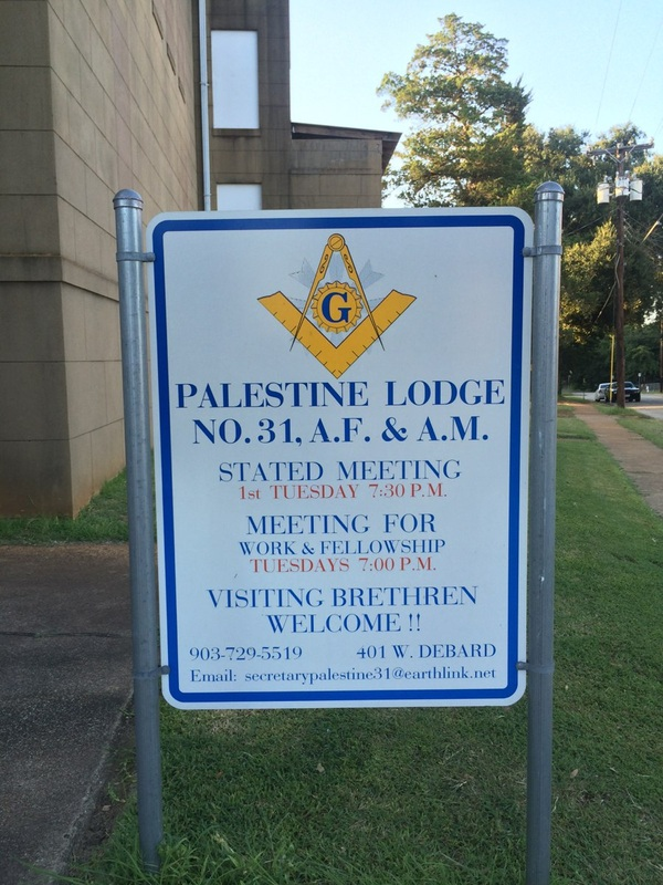 Texas Small Town Masonic Lodges - Palestine Lodge No  31